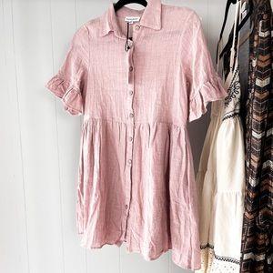BNWT Cotton Linen Mini Dress